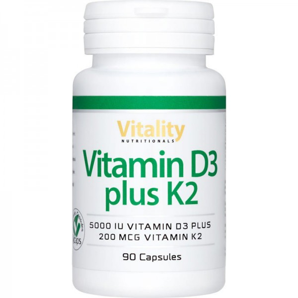 Vitamin D3 plus K2 90 Kps