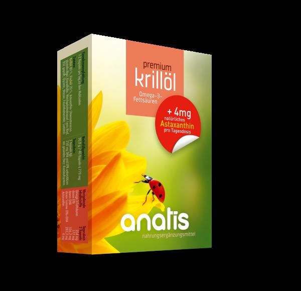 Premium Krillöl + 6 mg Astaxanthin